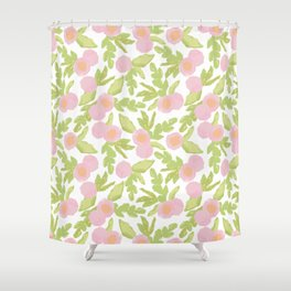 watercolor pink flowers Shower Curtain