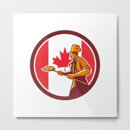 Canadian Pizza Baker Canada Flag Icon Metal Print