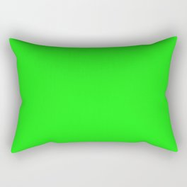 From The Crayon Box – Electric Lime - Bright Green - Neon Green Solid Color Rectangular Pillow