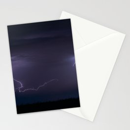 Summer Lightning Storm On The Prairie IV - Nature Landscape Stationery Cards