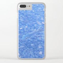 Blue Fish in Jordan River Clear iPhone Case