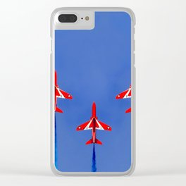 Red Arrows Formation Clear iPhone Case