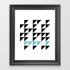 Tri Pixel Framed Art Print
