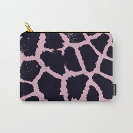 Giraffe pattern Black and pink Carry-All Pouch