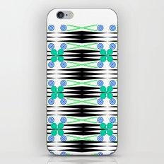 Geometrical pattern, green iPhone & iPod Skin