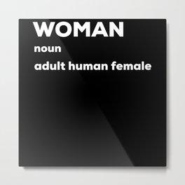 Woman T Shirt Adult Human Female Metal Print