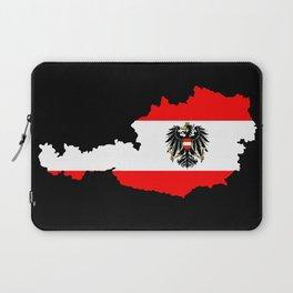 Austrian Flag and Map Laptop Sleeve