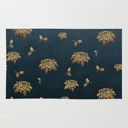 Golden Rose - Glitter Pattern Rug