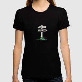 signpost at a crossroads T-shirt