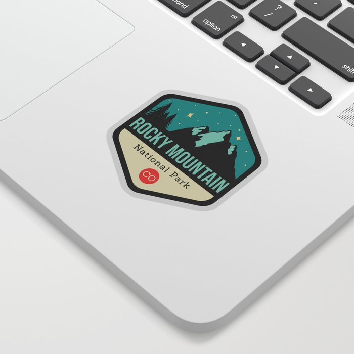 Rocky Mountains Park Badge Sticker