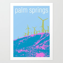 Palm Springs Wind Farm, California Art Print