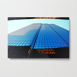 Reflection of a Building when Sunset is approaching Metal Print