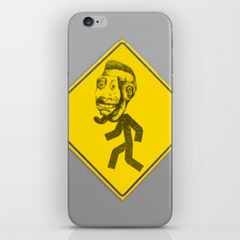 Mask man crossing iPhone Skin