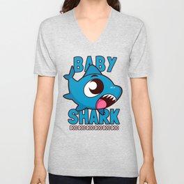 Baby Shark Doo Doo Doo Kids Unisex V-Neck