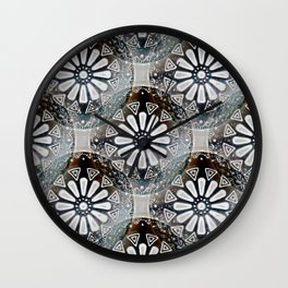 Medallions Re-visited 3 Wall Clock