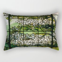 Louis Comfort Tiffany - Decorative stained glass 2. Rectangular Pillow