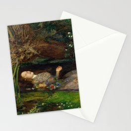 Ophelia from Hamlet Oil Painting by Sir John Everett Millais Stationery Cards