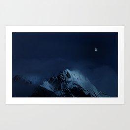 Moonlight on Aoraki / Mount Cook. Art Print