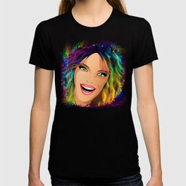 Happy Girl Rainbow Fashion Hair T-shirt