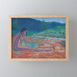 Eve opposite the garden of Eden Framed Mini Art Print