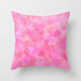 Pink Blush Dots Pattern Throw Pillow