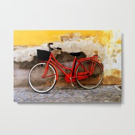The Red Bicycle Metal Print