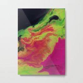 Cascade Of Colour Metal Print
