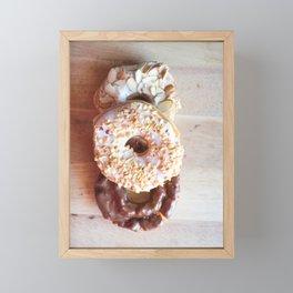 Donuts #food Framed Mini Art Print