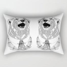 Mr  Bear Rectangular Pillow