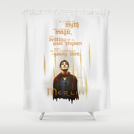 Merlin: Myth and Magic Shower Curtain