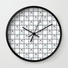 Friendly Neighbor (grid) Wall Clock
