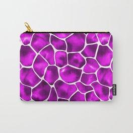 Watercolor Giraffe's Spots (Purple) Carry-All Pouch