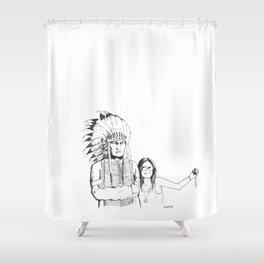 Please Smile Shower Curtain
