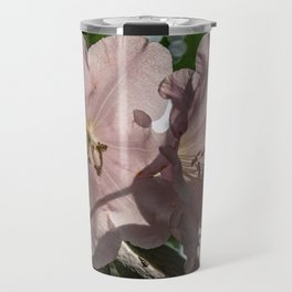 Pink Blooming Rhododendron Flowers Travel Mug