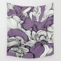 lavender Wall Tapestries featuring Lavender Fabric by DuckyB