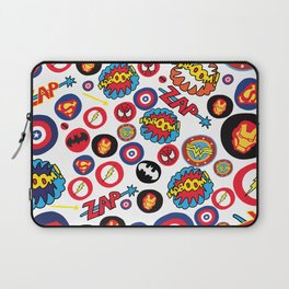 Superhero Stickers Laptop Sleeve