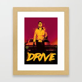 Drive (On the Beach) Framed Art Print