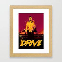 Drive (On the Beach) Framed Art Print