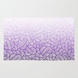 Gradient purple and white swirls doodles Rug