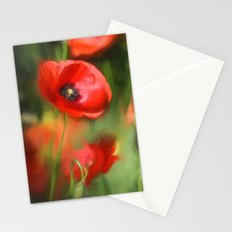 Warmth- Floral Flower Poppies in love- Poppy flowers #Society6 Stationery Cards