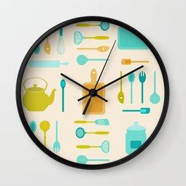 AFE Kitchen Utensils Pattern II Wall Clock