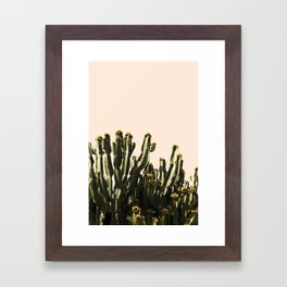 cactus nature x Framed Art Print