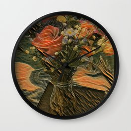 Country Satin Wall Clock