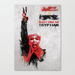 Fight Like An Egyptian Canvas Print