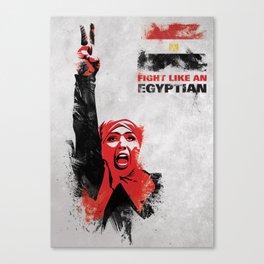 Fight Like An Egyptian Canvas Print