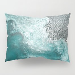 """""""Sea foam dancing on the blue ocean and gray sand"""" Pillow Sham"""