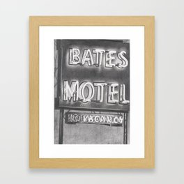 Bates Framed Art Print