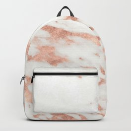 Marble - Metallic Rose Gold Marble Pattern Backpack