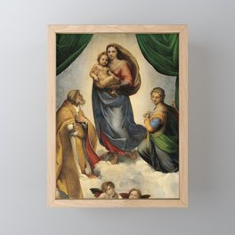The Sistine Madonna Oil Painting by Raphael Framed Mini Art Print