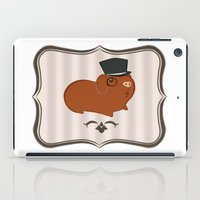guinea pig iPad Cases featuring Mr Guinea Pig by Jo Sharp